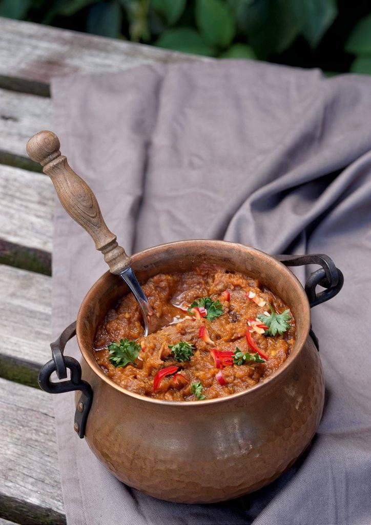 Curry z dynią i wołowiną